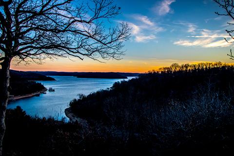 Beaver Lake at dusk