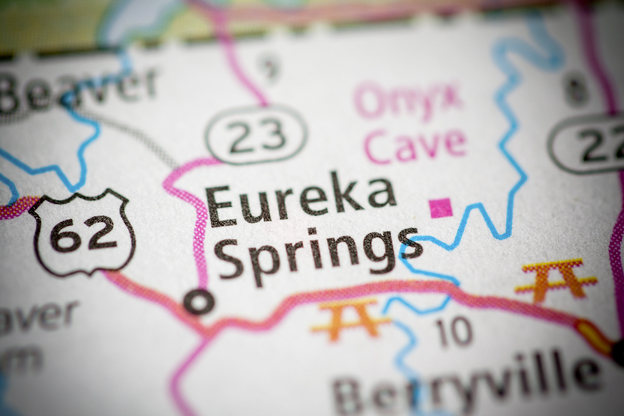 map showing Eureka Springs, Arkansas