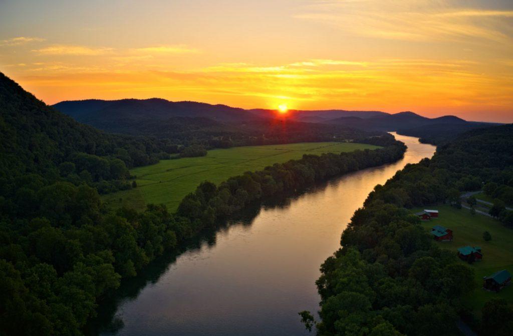 Fishing in Arkansas on the White River