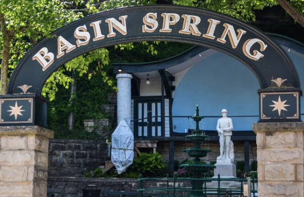 Historic Basin Park in downtown Eureka Springs Historic District