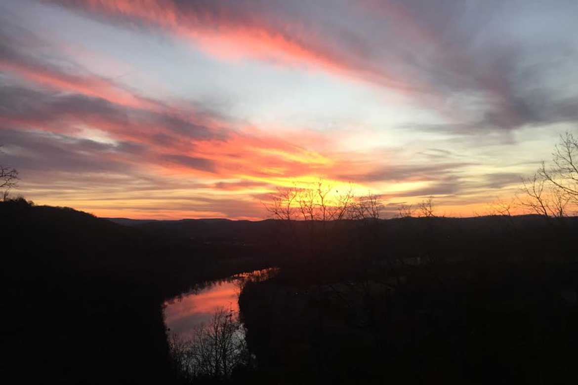 Colorful Ozark Sunset